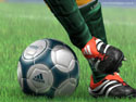 Soccer - soccer shoe and ball